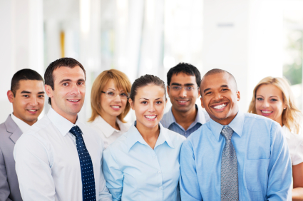 Group of businesspeople standing.